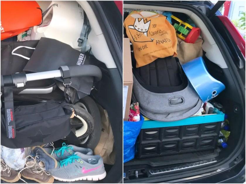 Familienurlaub Auto packen