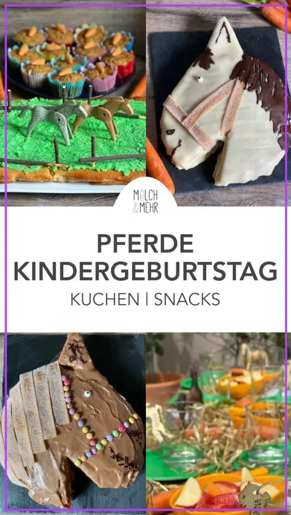 Pferde Kindergeburtstag Kuchen Snacks