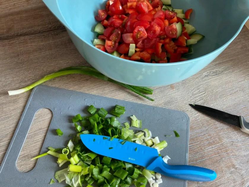Taboule Salat Vorbereiten