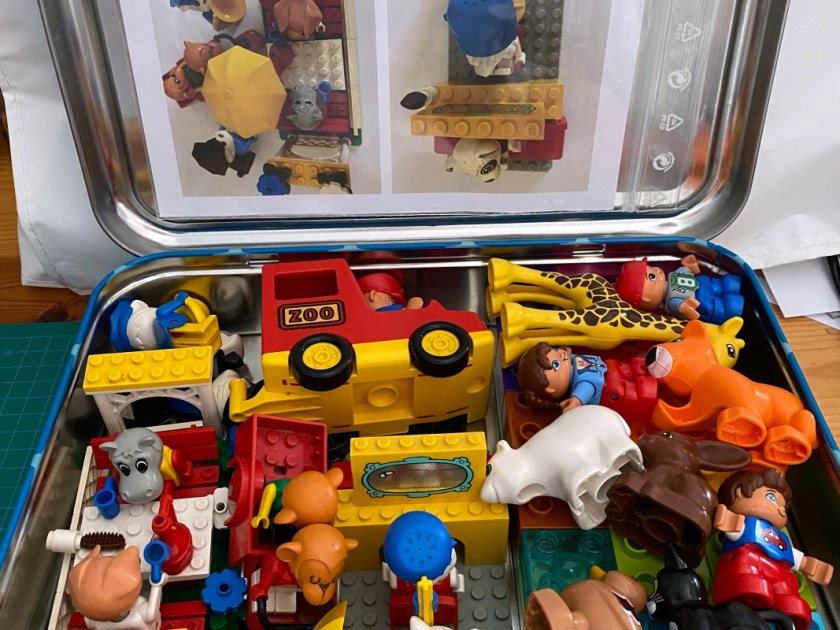 Lego Koffer fuer Urlaub
