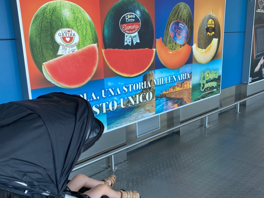 Melonen am Flughafen