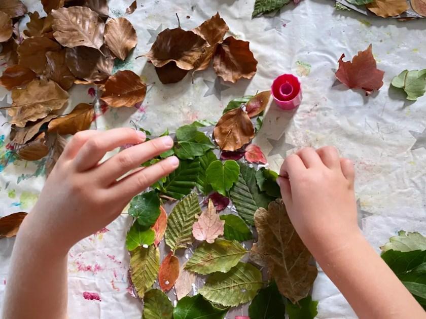Basteln mit Herbstblaettern