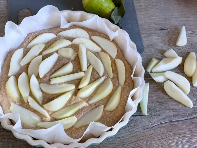 Birnen Nuss Kuchen vollwertig