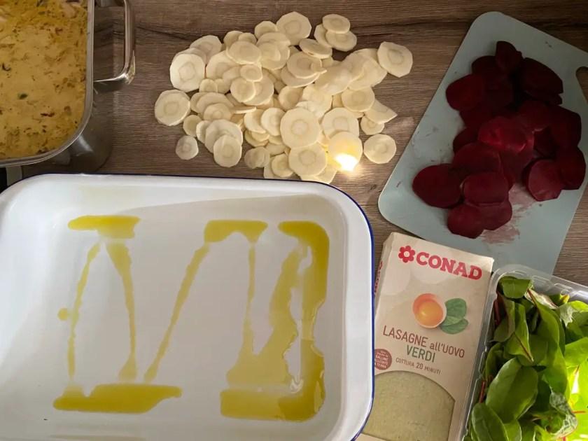 Lasagne mit Gemuese