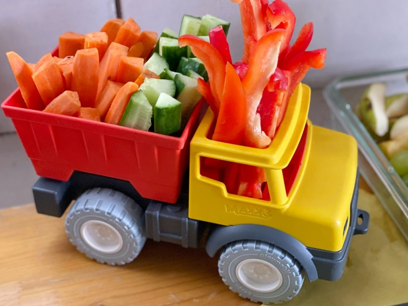 Kindergeburtstag Baustellenmotto Snack