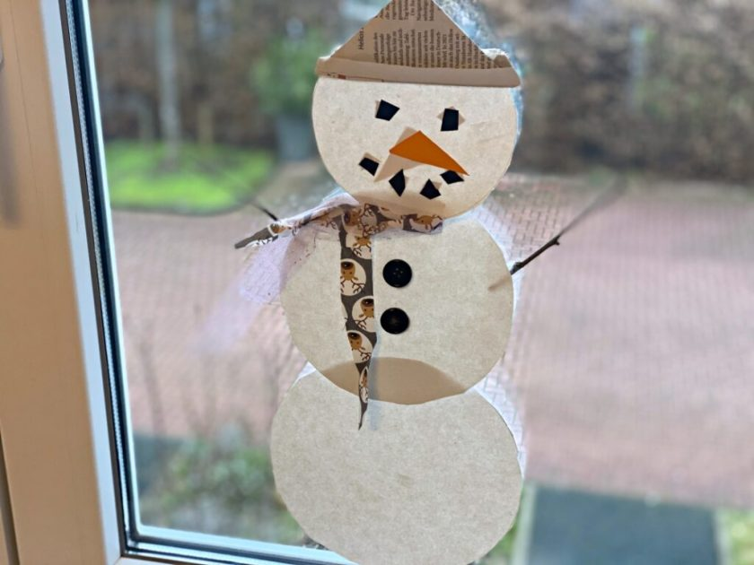 Schneemann Fensterbild einfach