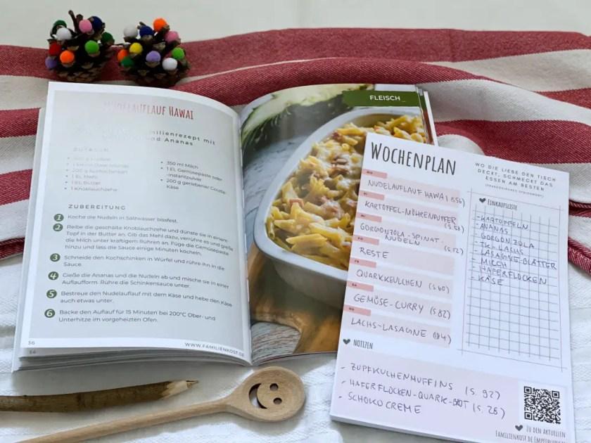 Wochenplan Familienkochbuch