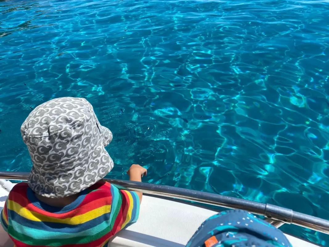 Bootsfahrt Sardinien mit Kindern