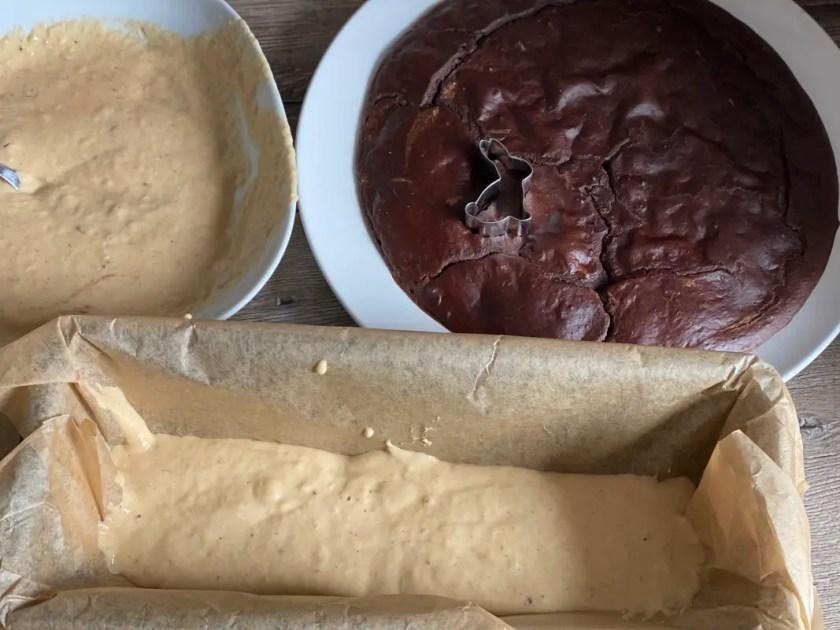 Marmorkuchen Osterhase Zuckerfrei