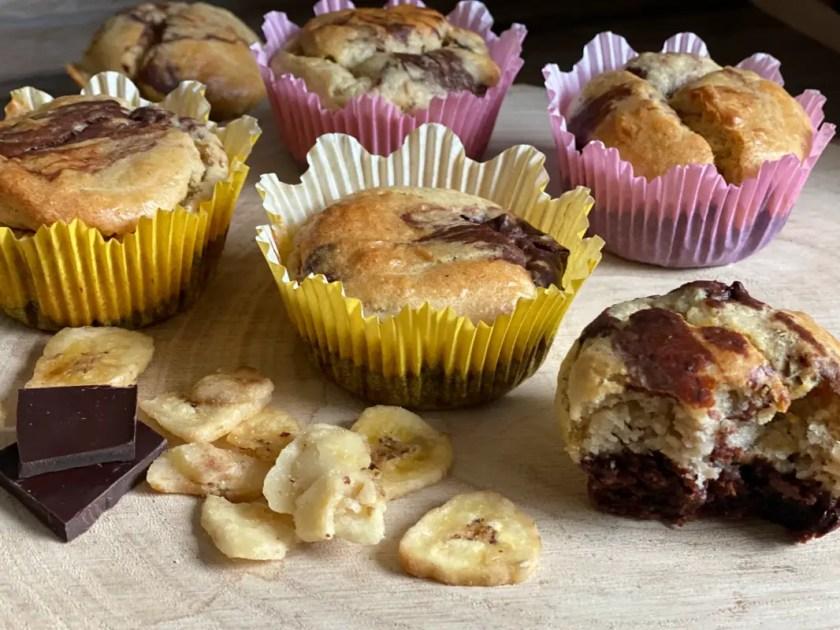 Marmor-Muffins Schoko Banane