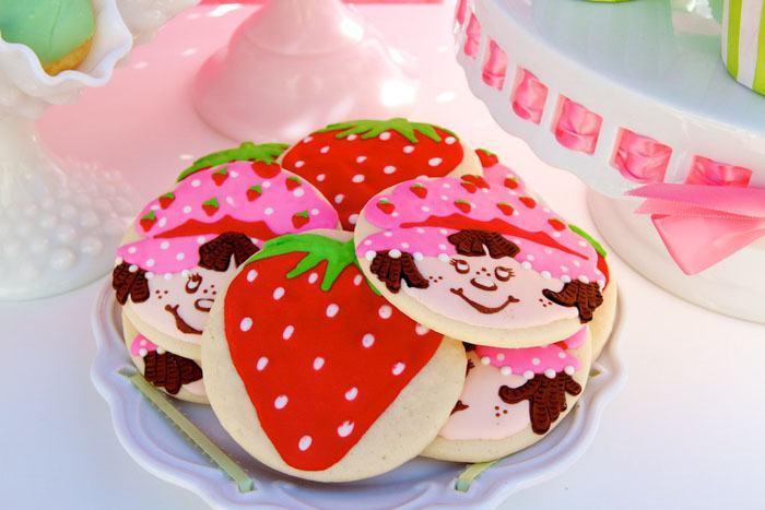 festa da moranguinho biscoitos