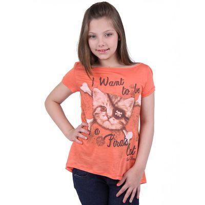 camiseta menina pirata
