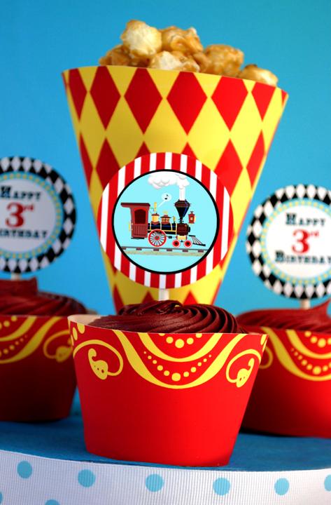 cupcake e pipoca festa circo