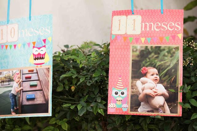 decoração festa infantil corujas
