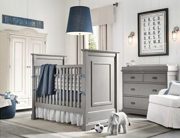 quarto menino bebe azul clean