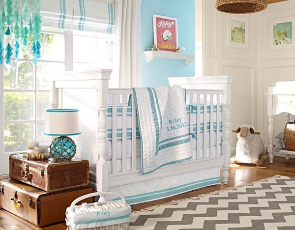 quarto bebe menino azul