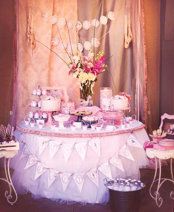 mesa festa bailarina