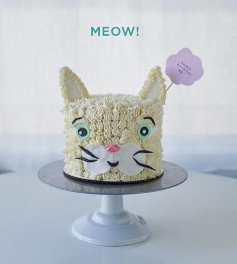 bolo de aniversario gato