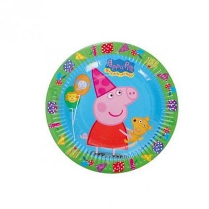 Pratos descartáveis para festa Peppa Pig