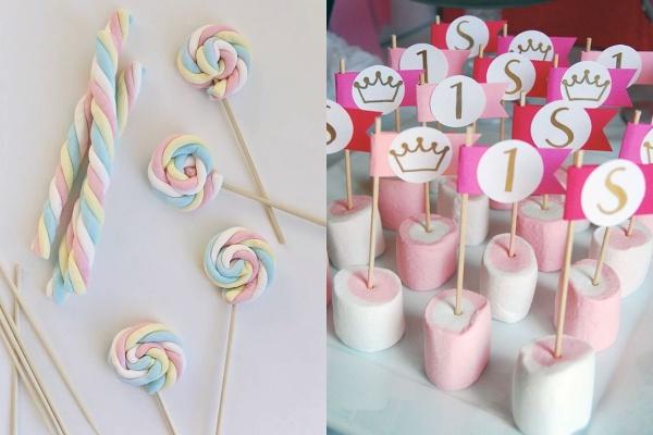 marshmallow para festa infantil