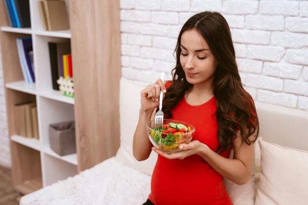 alimentação da grávida