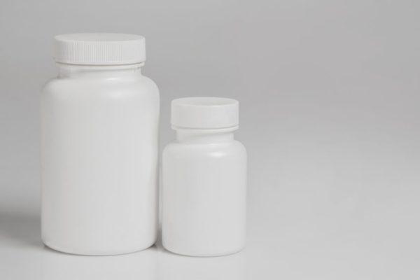 frasco de hormônio remédio