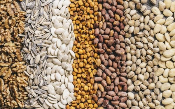 sementes e nozes
