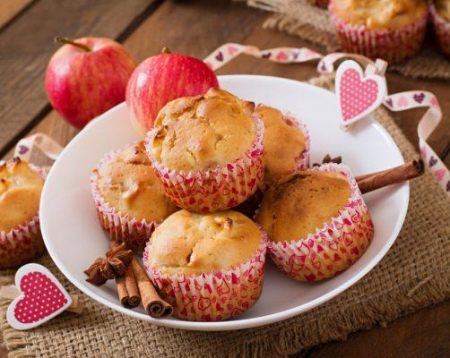 Muffin de maçã e outras frutas com noz moscada receitas para cozinhar em família