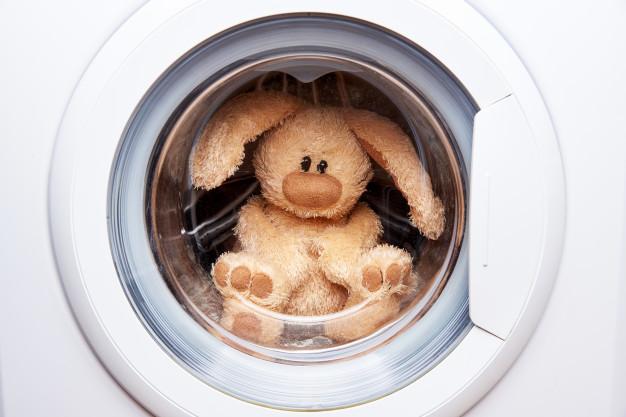 Higienizar coelho dentro da máquina de lavar