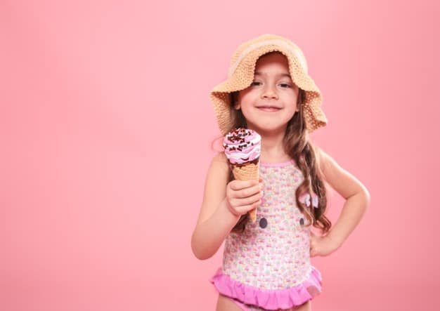Menina com sorvete