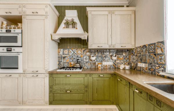 cozinha branco e verde