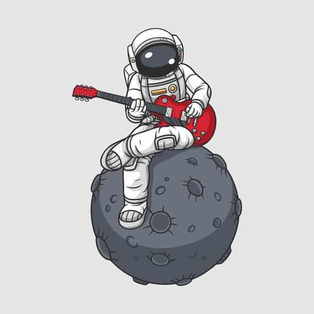 lua e astronauta
