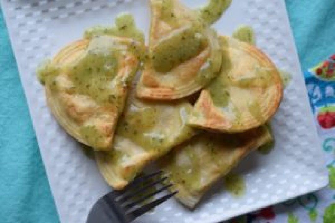 Garlic Butter Pierogi