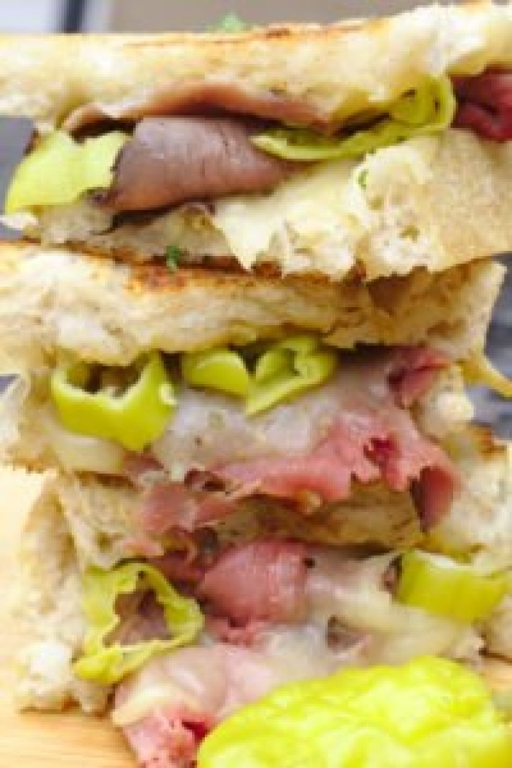 Italian Beef Grilled Cheese