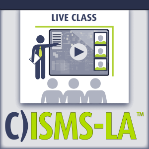C)ISMS-LA/LI Security Management Systems Lead Auditor live class