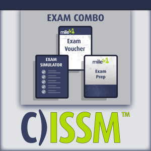 C)ISSM Information System Security Manager exam combo