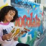 A girl reading a book