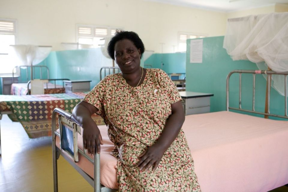 A nurse at Kitovu Fistula camps