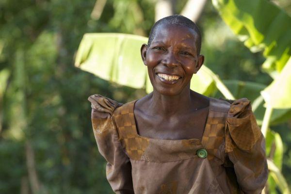 A femaile Ugandan farmer