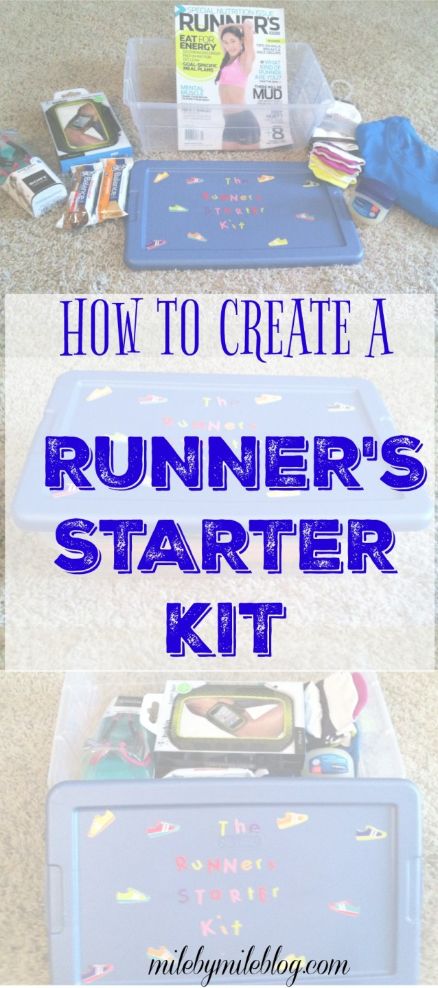 Create this starter kit for a new runner! Include all the essentials like good socks, snacks, and running resources!