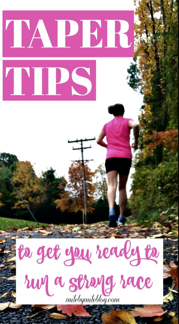 How do you make sure you are preparing yourself for a big race during the taper? Here are some ways to make sure you are setting yourself up for success. Pin this post to save for the next time you are getting ready to taper and race! #run #race #taper