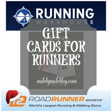 Gift cards for runners