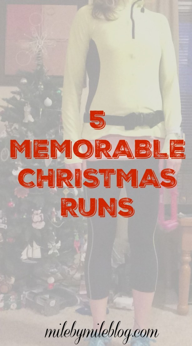Do you like to run on holidays and special occasions? Christmas is one of my favorite days for running. Here are 5 memorable Christmas runs from the past few years. #running #christmas #holidays #fridayfive
