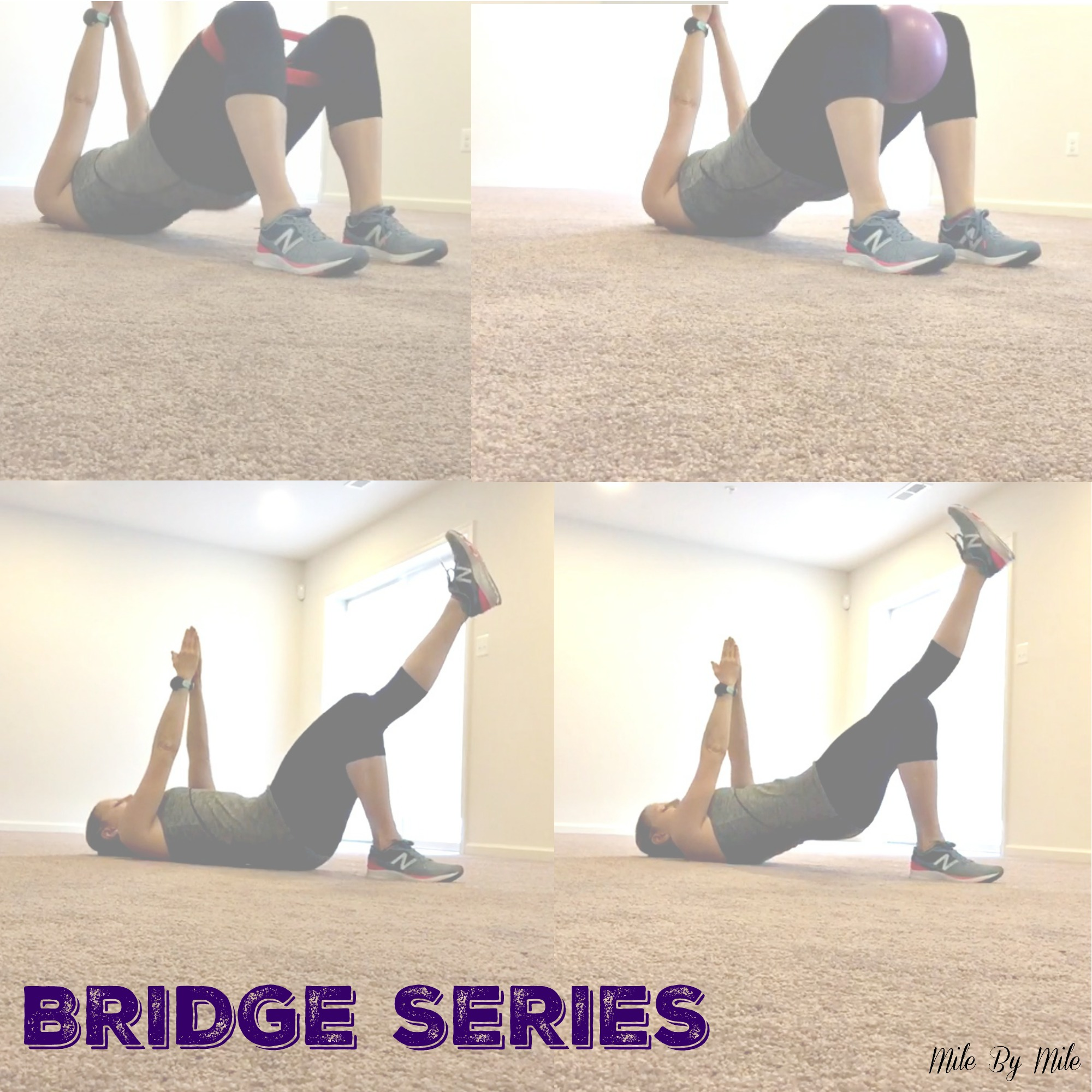 Stability Ball Glute Bridge: 30 Minute Glute Burning Workout