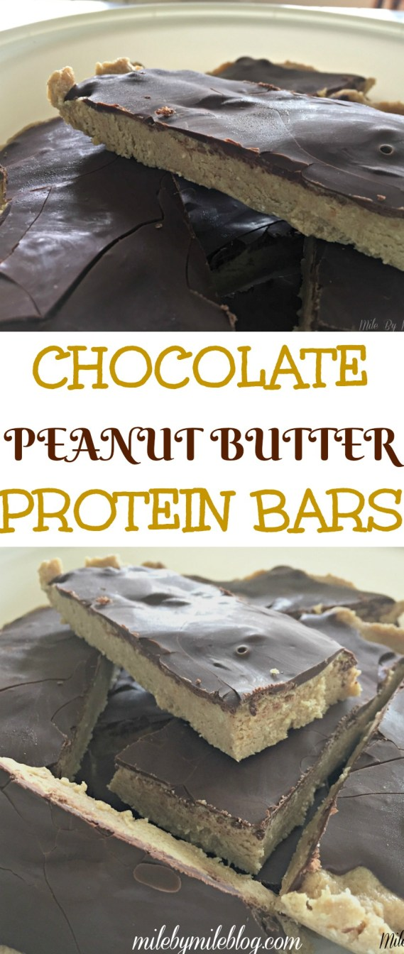 Try these chocolate peanut butter protein bars for the perfect breakfast or snack! Made with protein powder and oats, they will fill you up but also satisfy your sweet tooth!