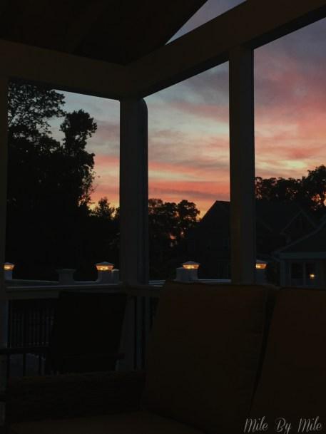deck sunrise