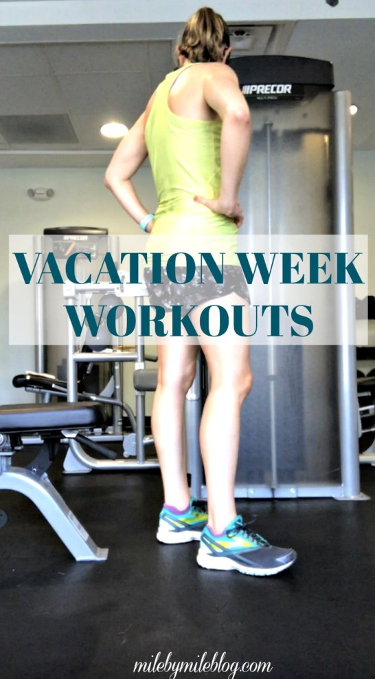 This week was a solid week of workouts, even though I was on vacation and still am not running. Click post for details on how I'm continuing to work out while waiting to start running again.