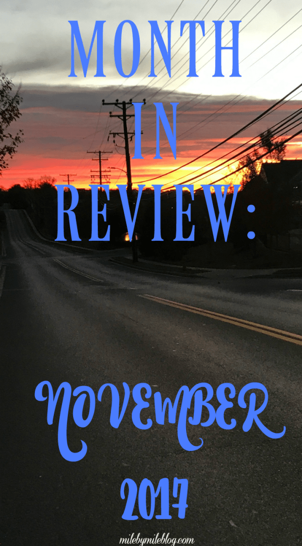 November is coming to a close which means its time to look back on the month! Click post to read about how my running and other workouts went this month, and plans for the winter.