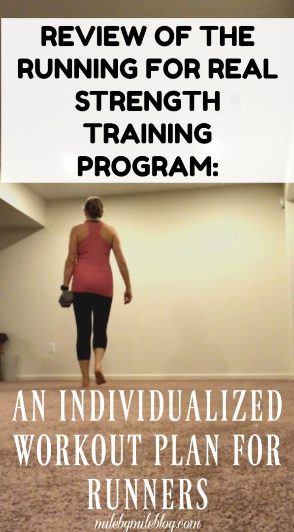 Are you looking to become a stronger runner? Want to stop getting injured? Consider following the Running for Real Strength Training Program to receive an individualized workout plan, made specifically for runners! Click post to read about my experience following this program for 6 months.