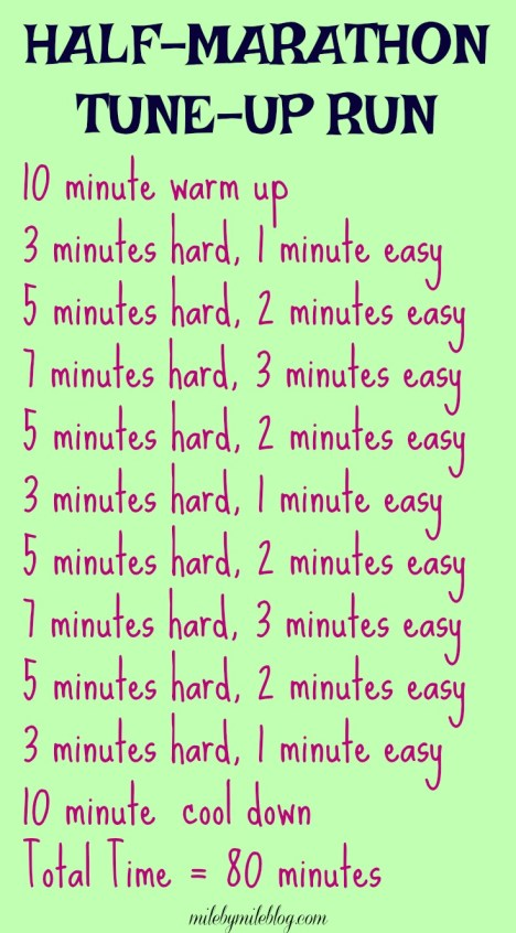 Get ready for a half marathon by following this workout!